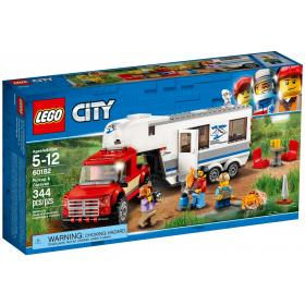 Lego city, pick-up e caravana