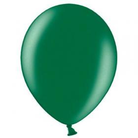 Balões latex, 30 cm, verde metalico, 9 unid.