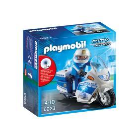 Playmobil, mota da polícia com LED