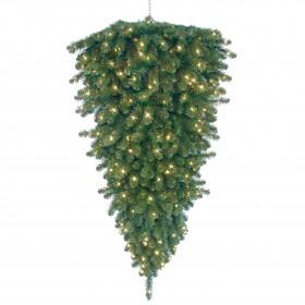 Árvore de natal suspensa c/ led, verde, 90 cm